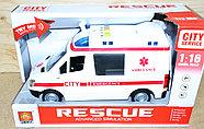 WY590A Скорая помощь Rescue Ambullance 4функции,27*16см, фото 3
