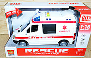 WY590A Скорая помощь Rescue Ambullance 4функции,27*16см, фото 2
