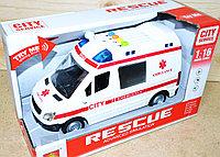 WY590A Скорая помощь Rescue Ambullance 4функции,27*16см, фото 1