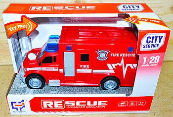 A1117-3 Пожарная машина,звук, 2 вида 24*15см