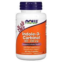 Now Foods, Индол 3-карбинол, 200 мг, 60 растительных капсул