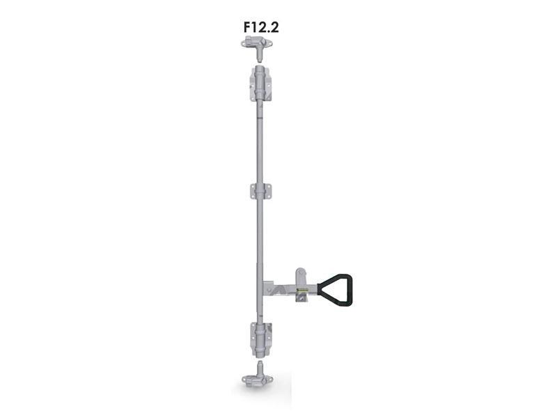 Запор штанговый d=22 с ручкой Delta (комплект) F12.2