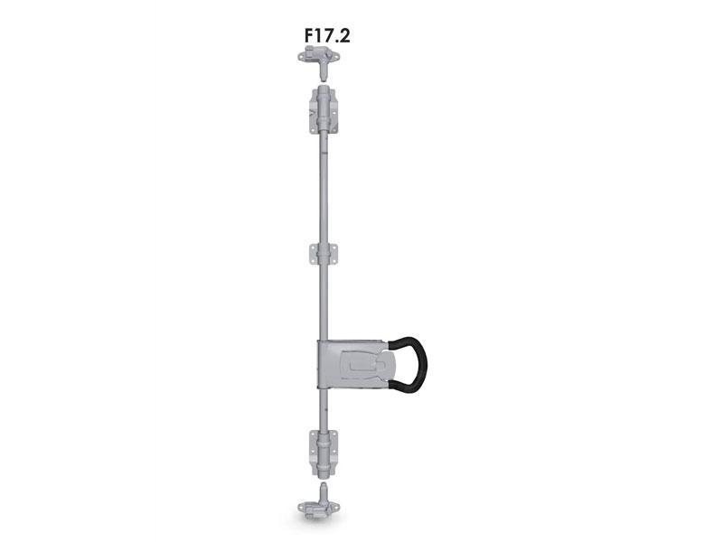 Запор штанговый d=22 с ручкой Push 2 (комплект) F17.2