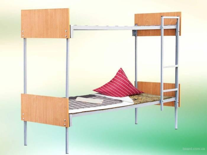 Кровать металлический двухъярусный для вахтовый городка