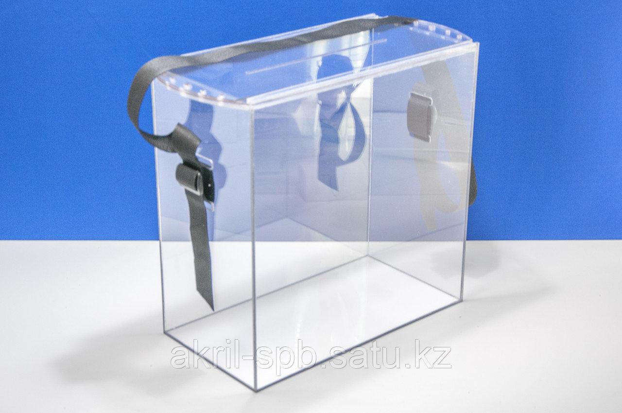 Урна для голосования 380х200х380 переносная с защитой от вброса