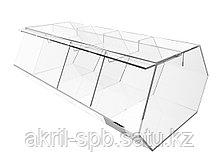 Диспенсер для снеков с единой крышкой 4 ячейки