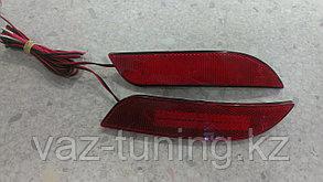 Катафоты заднего бампера диодные Приора-2 седан