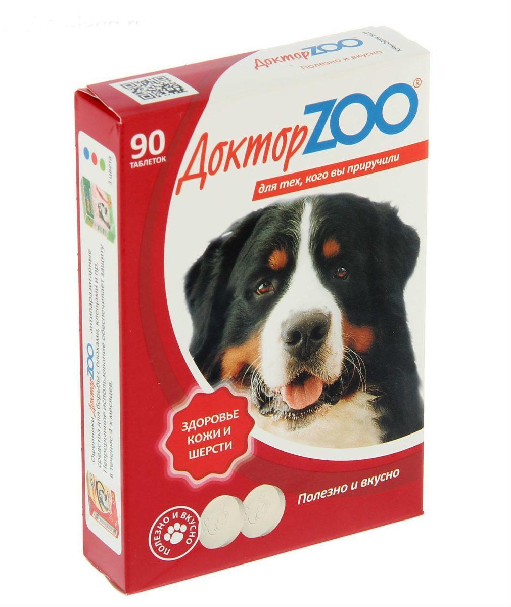 Витамины Доктор ZOO для собак, Здоровье кожи и шерсти