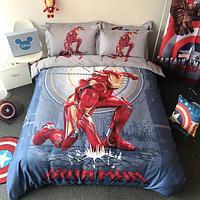Постельное белье DISNEY 1.5 Полуторка Сатин Iron Man (Железный человек)