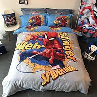Постельное белье DISNEY 1.5 Полуторка Сатин Spider Man (Человек паук)