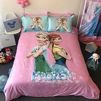 Постельное белье DISNEY 1.5 Полуторка Сатин Frozen (Холодное сердце, Эльза и Анна)