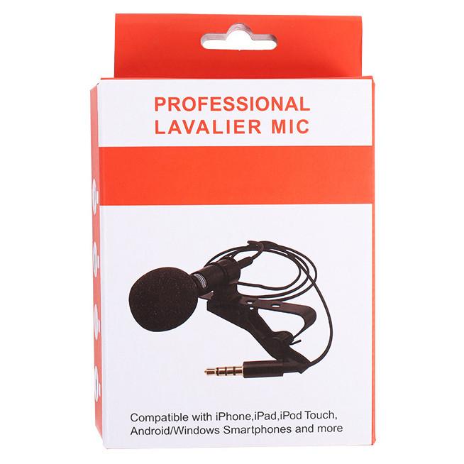 Петличный микрофон Professional lavalier mic Jack 3.5 мм 1 метр