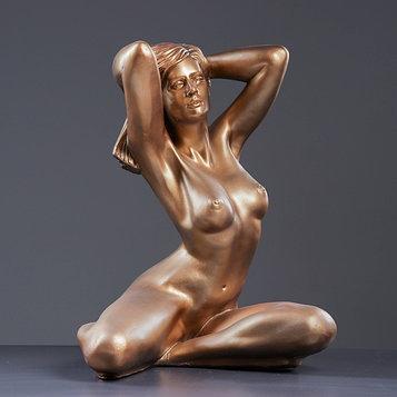 """Фигура """"Девушка сидя Пробуждение"""" 31х41х52см бронза"""