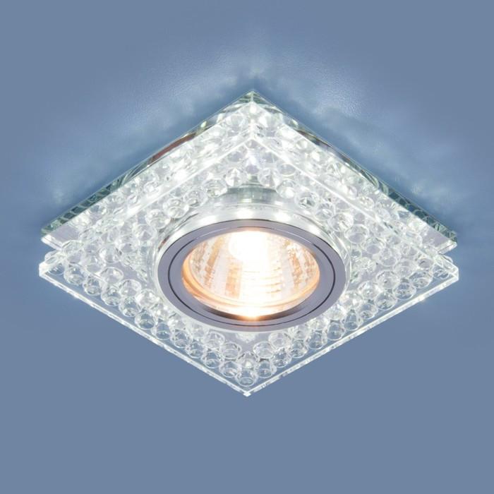 Светильник 8391 MR16, IP20, 35 Вт, G5.3, d=60 мм, цвет серебро