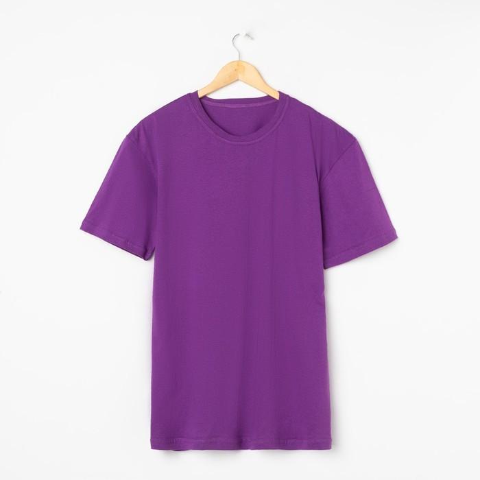 Футболка мужская, цвет сиреневый МИКС, размер 56