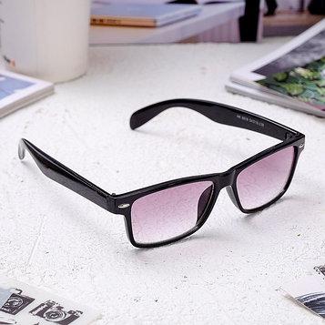 Очки корригирующие 6619, размер 14,1х13,5х4, цвет чёрный, тонированные, -1