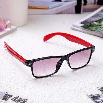 Очки корригирующие 6619, цвет красно-чёрный, тонированные, -4