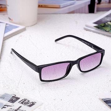 Очки корригирующие 6617, размер 13,5х13,2х3,4, цвет чёрный, тонированные, отгибающаяся дужка, -3,5