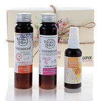 Подарочный набор органической косметики Woman's Day: шампунь «5 целебных глин», масло и бальзам для волос