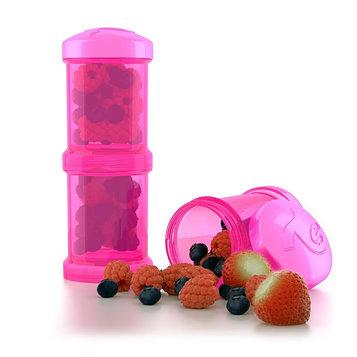 Контейнер для сухой смеси Twistshake, цвет розовый, 100 мл, 2 шт.