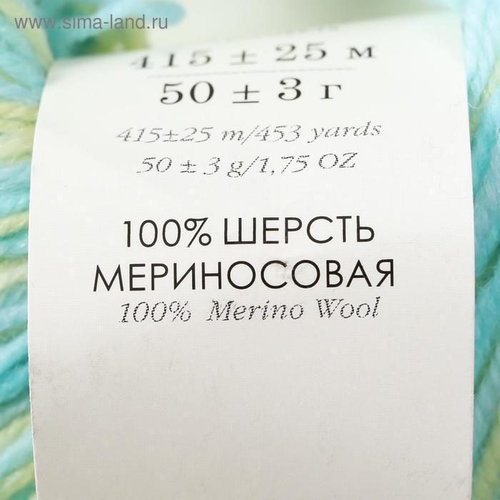 """Пряжа """"Элитная"""" 100% мериносовая шерсть 415м/50гр (543 М) - фото 4"""
