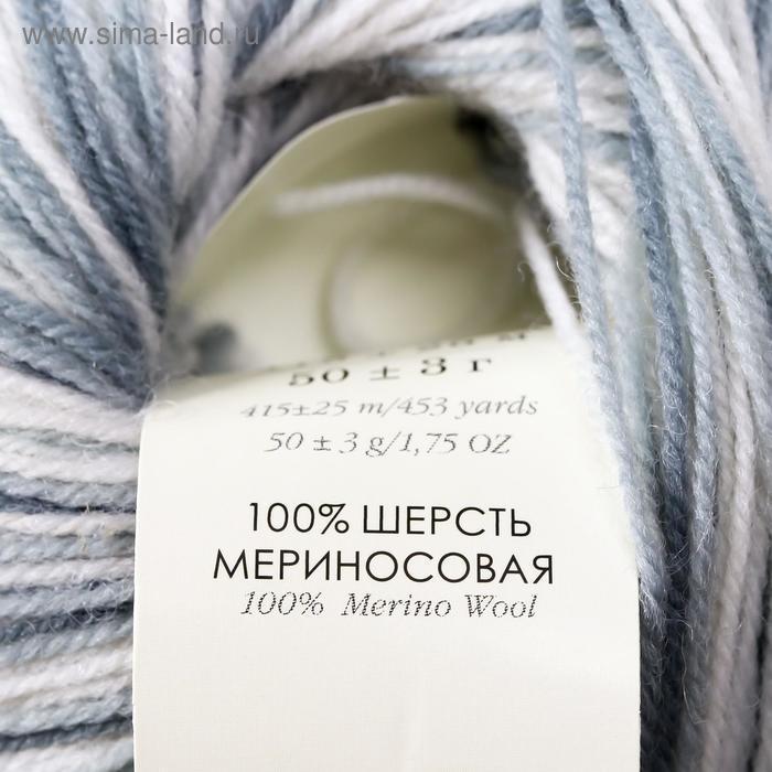 """Пряжа """"Элитная"""" 100% мериносовая шерсть 415м/50гр (996 М) - фото 4"""