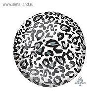 """Шар фольгированный 16"""" 3D-сфера «Снежный барс. Сафари»"""