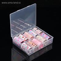 Набор переводной фольги для дизайна ногтей «FLOWERS», 4 × 40 см, 10 шт