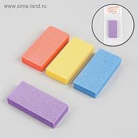 Баф наждачный для ногтей, двусторонний, 7,6 × 3,5 × 1,3 см, цвет МИКС