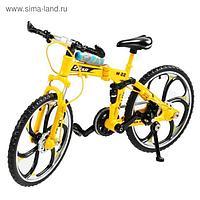 Машина металлическая «Велосипед» 17 см, МИКС