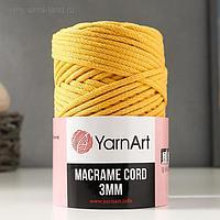 "Пряжа ""Macrame Cord"" 60% хлопок, 40% вискоза/полиэстер 3 мм 85м/250гр (764 св. жёлтый)"