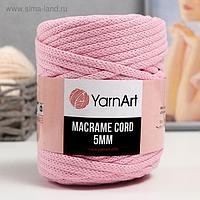 """Пряжа """"Macrame Cord"""" 60% хлопок, 40% вискоза/полиэстер 5 мм 85м/500гр (762 св.роз)"""