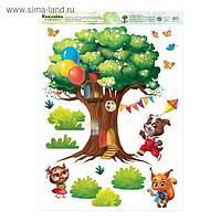 Наклейка виниловая «Дом на дереве», интерьерная, 50 х 70 см
