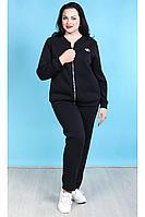 Женский осенний трикотажный черный спортивный спортивный костюм Camelia 2053 3 50р.