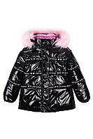 Детская для девочек зимняя черная куртка Bell Bimbo 193009 черный 104-56р.
