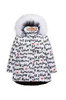 Детская для девочек зимняя белая куртка Bell Bimbo 183012 набивка молоко 104-56р.