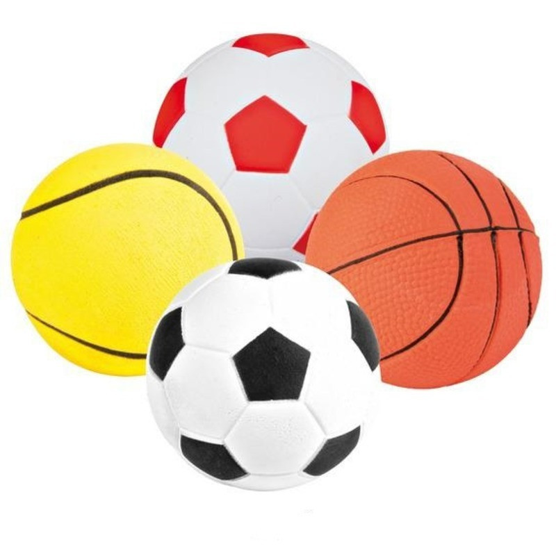 Игрушка для собак Мяч ворсо-резиновый