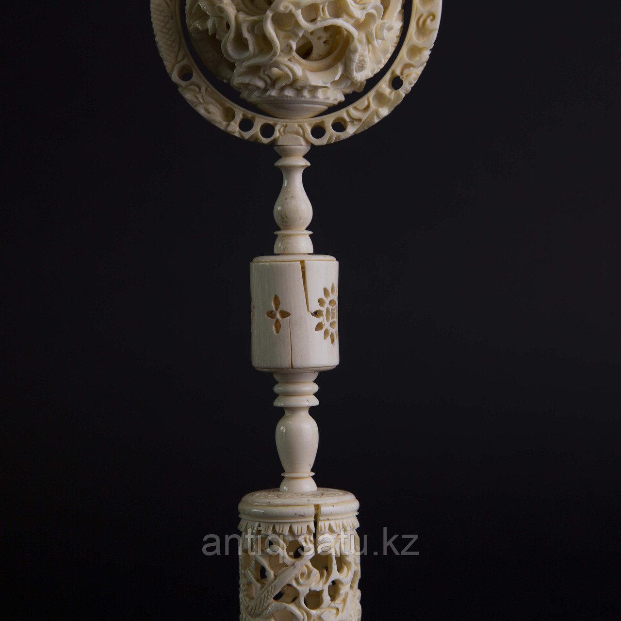 «Шар вечности» СЛОНОВАЯ КОСТЬ. Скульптурная композиция «Кантонский шар» - фото 4