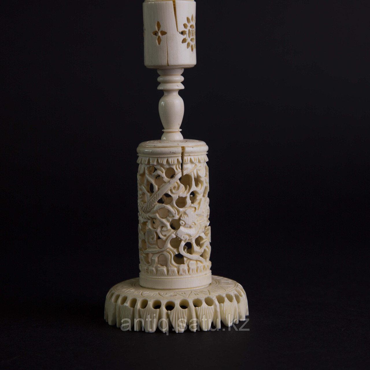 «Шар вечности» СЛОНОВАЯ КОСТЬ. Скульптурная композиция «Кантонский шар» - фото 7