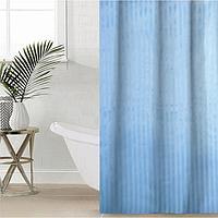 Штора для ванной комнаты Доляна «Полоска», 180×180 см, полиэстер, цвет голубой