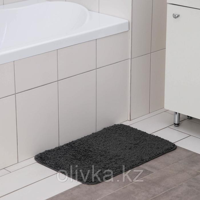 Коврик SHAHINTEX Frizz, 40×60 см, цвет графит