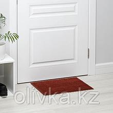 Покрытие ковровое щетинистое без основы «Травка», 40×53 см, цвет терракотовый
