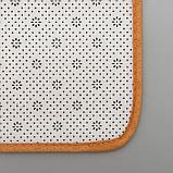 Набор ковриков для ванны и туалета Доляна «Полосатик», 2 шт: 50×80, 40×50 см, цвет бежево-коричневый, фото 4