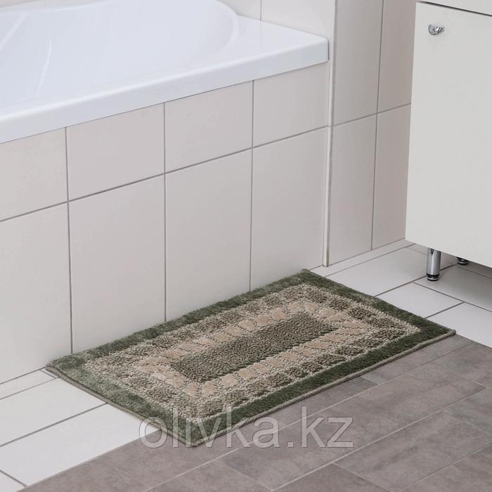 Коврик SHAHINTEX Mosaic, 45×75 см, цвет оливковый