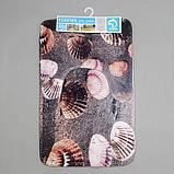 Набор ковриков для ванны и туалета Доляна «Морское дно», 2 шт: 45×70, 39×45 см, фото 5