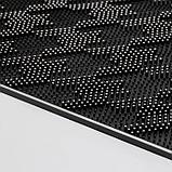 Коврик придверный прямоугольный Доляна «Гусиные лапки», 45×75 см, цвет чёрный, фото 4