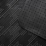 Коврик придверный прямоугольный Доляна «Гусиные лапки», 45×75 см, цвет чёрный, фото 5