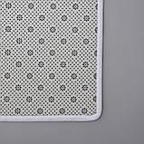 Набор ковриков для ванны и туалета Доляна «Ракушки», 2 шт: 40×45, 45×75 см, фото 4