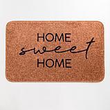 """Набор ковриков для ванной Этель """"Home"""" 2 шт, 80х50 см, 50х40 см, велюр, фото 3"""