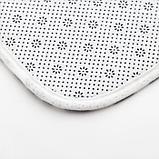 """Набор ковриков для ванной Этель """"Home"""" 2 шт, 80х50 см, 50х40 см, велюр, фото 4"""
